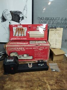 Dremel Tool Moto-Lathe Model 701 Miniature Wood Turning New In Open Box GL