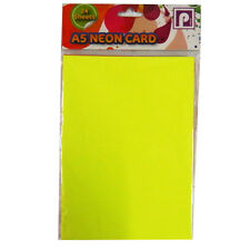 Neon Fluorescent Display Card - 2 Sizes Available - A4 or A5