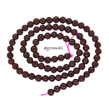 "15.2"" Red Garnet Round Beads ap. 4mm #67106"