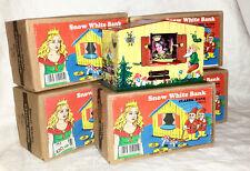 LOT DE 5 TIRELIRES BLANCHE NEIGE jouet en tole tin toys MONEY BANK SNOW WHITE