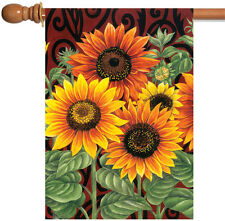 Toland Sunflower Medley 28 x 40 Fall Autumn Yellow Flower House Flag