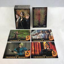 THE HUNGER GAMES (1st Movie) (Neca/2012) Complete 72 Card Set Jennifer Lawrence