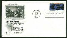 1233 EMANCIPATION PROCLAMATION FDC CHICAGO, IL ART CRAFT CACHET