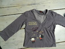 T-shirt manches longues gris PUCCA style cache coeur Taille 4 ans 102 cm