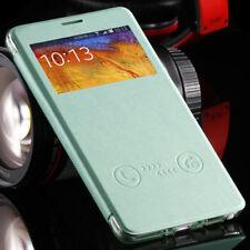 Fundas y carcasas Samsung color principal verde de piel para teléfonos móviles y PDAs