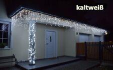 300 LEDs Eiszapfen Lichterkette Eisregen Weihnachtsbeleuchtung Außen *Kaltweiß*