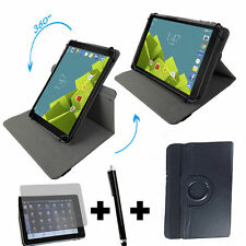360° Tablet Hülle Medion P10506 MD60036 Tasche + Folie Pen 3er 10.1 Zoll Schwarz