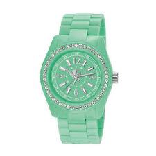 Runde polierte Armbanduhren aus Kunststoff für Damen