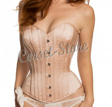 Tight Lacing Authentic Heavy Duty Steel Boned Over Bust Satin Corset 4290-S