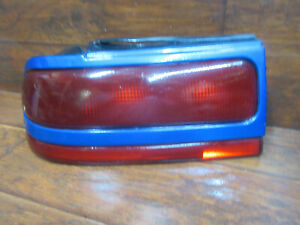 Plymouth Laser, 1992, 1993, 1994, Left Driver Tail Light With Blue Trim
