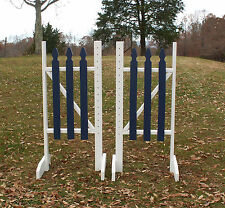 Horse Jumps Picket Fence Wing Standards 5ft/Pair - Color Choice #222