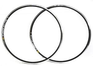 2 QTY Mavic CXP Elite 700c 28 Hole 28H Road Bike Rims Aluminum Black NEW