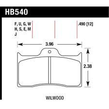 Hawk Performance HB540G.490 DTC-60 Disc Brake Pad