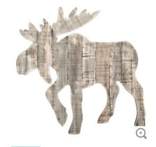 Moose Wood Pallet Rustic Wall Decor For Cabin Lodge Or Man Cave
