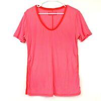 Lululemon Scoop Neck Striped Short Sleeve T Shirt Womens Shirt Size 8 Medium