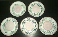 "(5) Caleca PINK GARLAND 8 1/4"" Salad Plates   Italy"