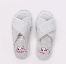 Flat (0 to 1/2 in.) Heel Cotton Slippers for Women