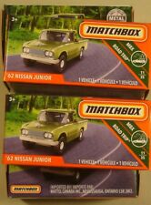 """Matchbox ''62 Nissan Junior pickup green #14 """"Power Grabs"""" 2018 lot (5)"""