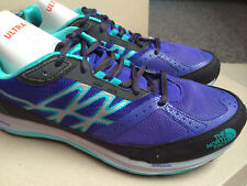 The North Face Women's Size 8 Ultra GuideTrail Running Shoes Moody Blue Ion