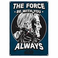 Star Wars The Force Be With You Always Wall Metal Sign (21 x 15cm) HALF MOON BAY