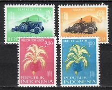 Indonesia - 1963 Freedom from hunger - Mi. 388-91 MNH