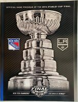 2014 STANLEY CUP FINAL PROGRAM LOS ANGELES KINGS NEW YORK RANGERS NHL CHAMPIONS