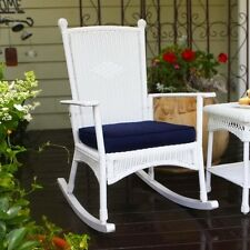 Tortuga Portside Rocking Chair in White Transitional Outdoor