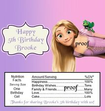 15 Tangled Rapunzel Birthday Candy Wrappers