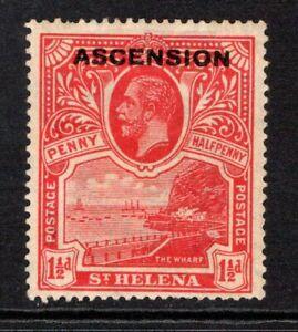 Ascension KGV 1922  1½d. Rose Scarlet SG3 M/Mint