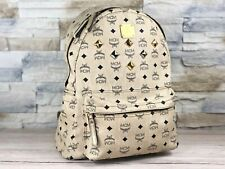 Original MCM Rucksack / Backpack Elfenbein  Nieten Shopper / Tasche  Ivory