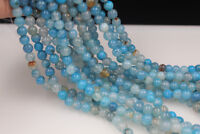 diy 8mm Blue Dragon Veins Agate Round Gemstone Loose Beads 15''AAA