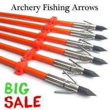 Archery Fiberglass Shaft Bowfishing Arrow with 325Gr Removable Arrowhead 6Pcs