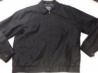 Roundtree & Yorke Travel Smart Mens XLT Lightweight Full Zip Jacket Black