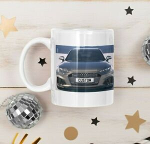 Personalised Number Plate Audi S4 Avant Coffee Mug Unique Gift FAST DISPATCH