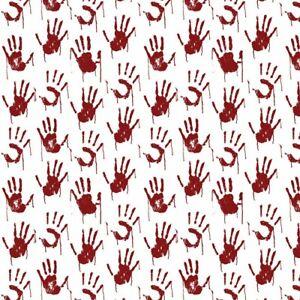 0.5 metre Psycho Hands Digital Cotton 100% Cotton Fabric 140cm wide