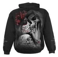 Spiral Direct DEAD KISS - Hoodie Black Tattoo/Sugar Skull/Demon/Goth/Pullover