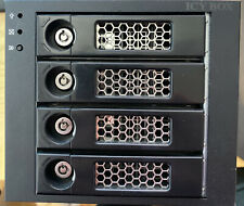More details for black raidsonic icybox ib-554ssk 4 x 3.5 hdd tray hotswap in 3 x 5.25 sata/sas