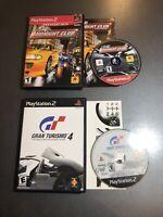 Gran Turismo 4 + Midnight Club Street Racing - (Playstation 2 PS2) CIB w/ Manual