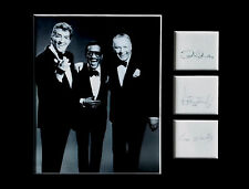 THE RAT PACK signed autographs PHOTO DISPLAY Frank Sinatra Dean Martin Sammy