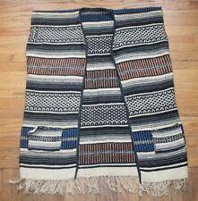 Vintage Woven Blanket Vest Hand Woven Southwestern Native Navajo Print Size L