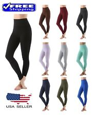 Active High Waist Tummy Control Cotton Blend Long Leggings