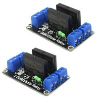 2x Dual Channel 5V OMRON High Level Trigger Solid State Relay Module For Arduino