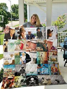 Kenny Chesney Quilt Blanket Gift Idea For Fan