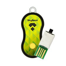 SkyBean acoustic Variometer for Paragliding and Hang Gliding Pilots-Lime-Green