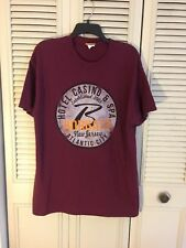 Borgata Hotel & Casino Atlantic City NJ Burgundy 100% Cotton Tee T Shirt Large