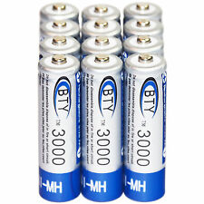 12x Rechargeable AA 3000mAh 1.2 V Ni-MH  battery BTY cell for MP3 RC Toys Camera