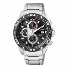 Stainless Steel Band Chronograph Wristwatches for Men