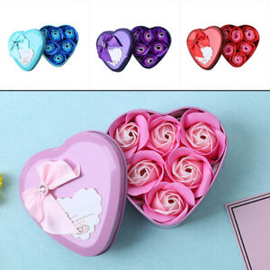 6* Bath Wedding Scented Rose Petal Party Soap Body Flower Valentine Gifts