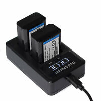 New NP-FW50 Li-Ion Battery / LCD DUAL Charger For Sony A6000 A3000 A5000 A6300