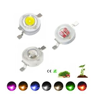 10pcs 1W 3W High Power LED Chip Lamp Bulb Warm Cold White 660n Red Green Blue